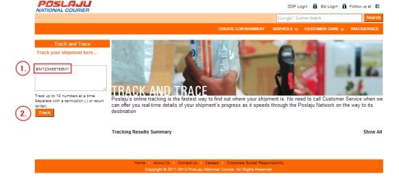 miyome poslaju tracking
